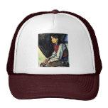 Muchacho con un chaleco rojo de Paul Cézanne Gorras De Camionero