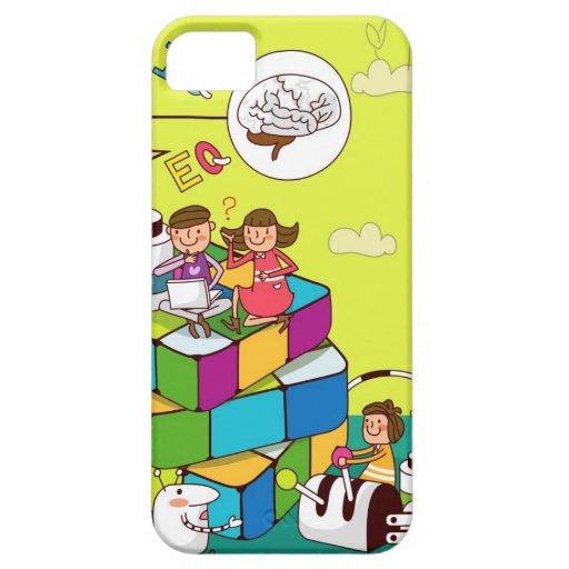 Muchacho con un chica que se sienta en el iPhone 5 Case-Mate carcasas