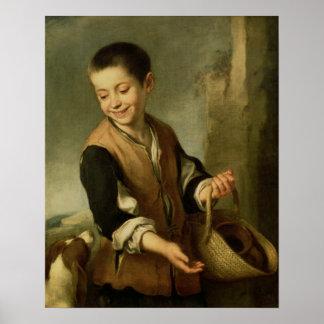 Muchacho con un perro, c.1650 posters