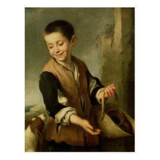 Muchacho con un perro, c.1650 postales