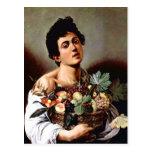 Muchacho con una cesta de fruta, Caravaggio Postales