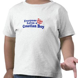 Muchacho croata camiseta