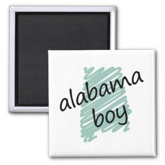 Muchacho de Alabama en el dibujo del mapa de Alaba Imán Cuadrado
