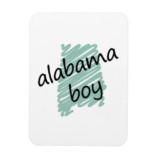 Muchacho de Alabama en el dibujo del mapa de Alaba Imán Foto Rectangular