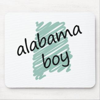 Muchacho de Alabama en el dibujo del mapa de Alaba Alfombrilla De Raton