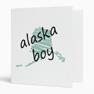 Muchacho de Alaska en el dibujo del mapa de Alaska