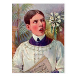 Muchacho de altar católico del kitsch retro del vi tarjeta postal