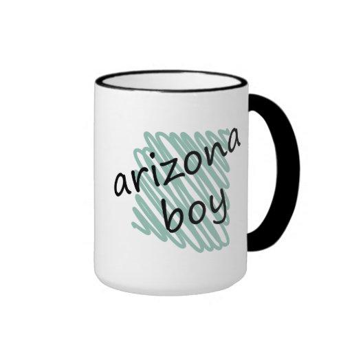 Muchacho de Arizona en el dibujo del mapa de Taza De Dos Colores