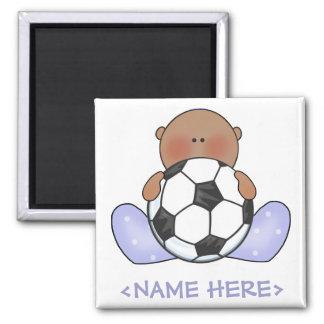 Muchacho de bebé del fútbol de Lil étnico Imán Cuadrado