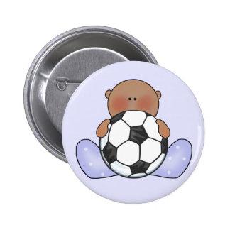 Muchacho de bebé del fútbol de Lil étnico Pin Redondo 5 Cm