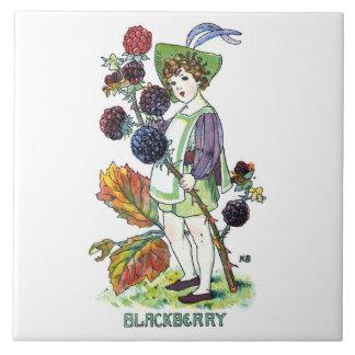 Muchacho de Blackberry Azulejos