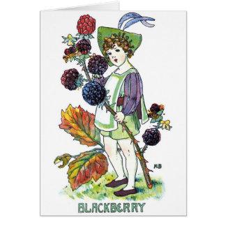 Muchacho de Blackberry Tarjeta De Felicitación