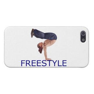 Muchacho de Breakdancing B del estilo libre iPhone 5 Fundas