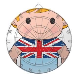 Muchacho de Británicos de la amapola Tablero De Dardos