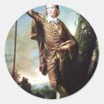 Muchacho de Brown de Joshua Reynolds Pegatina Redonda