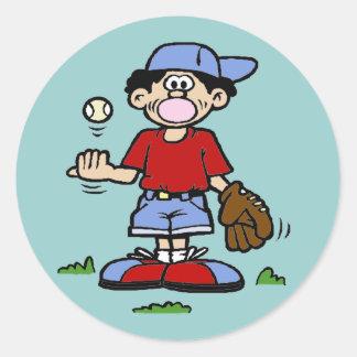 Muchacho de Bubblegum Pegatina Redonda