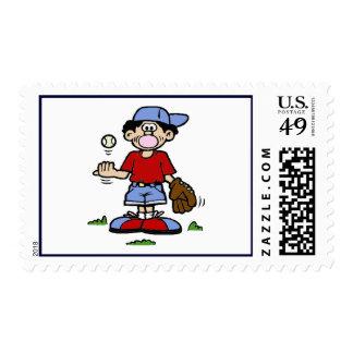 Muchacho de Bubblegum Sello Postal