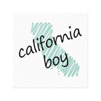 Muchacho de California en el dibujo del mapa de Ca Lienzo Envuelto Para Galerías