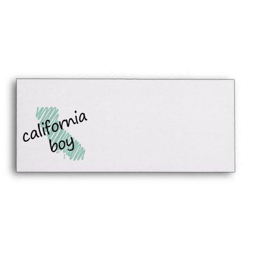 Muchacho de California en el dibujo del mapa de Ca