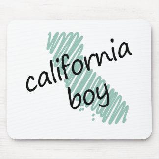 Muchacho de California en el dibujo del mapa de Ca Alfombrilla De Raton