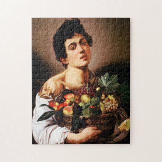 Muchacho de Caravaggio con una cesta de Rompecabeza Con Fotos