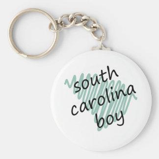 Muchacho de Carolina del Sur en el mapa de Carolin Llavero Redondo Tipo Pin