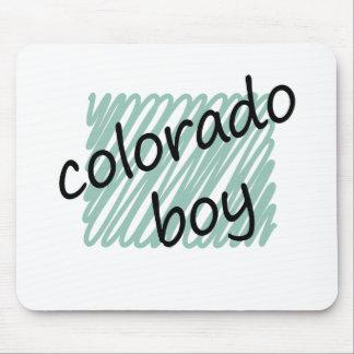 Muchacho de Colorado en el dibujo del mapa de Colo Alfombrillas De Raton