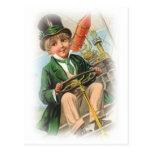 Muchacho de día del St. Patricks del vintage Postal