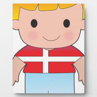 Muchacho de Dinamarca de la amapola Placas De Plastico