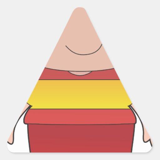 Muchacho de España de la amapola Calcomanías De Triangulos