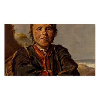 Muchacho de Fisher de Francisco Hals Plantillas De Tarjetas De Visita