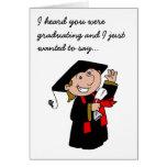 Muchacho de graduación lindo felicitación