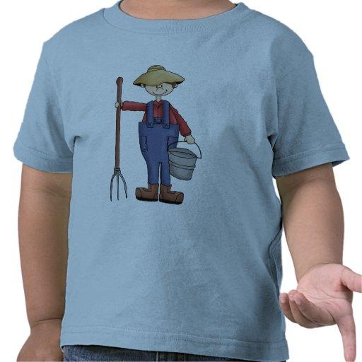 Muchacho de granja camisetas