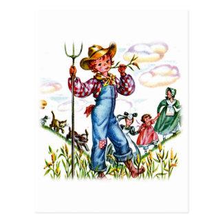 Muchacho de granja tarjetas postales