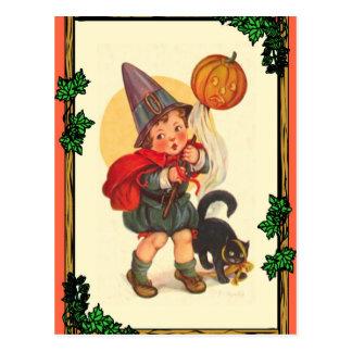 Muchacho de Halloween Postal
