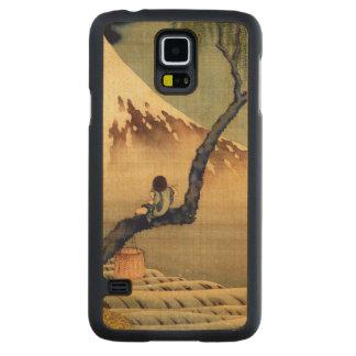 Muchacho de Hokusai que ve el vintage del japonés Funda De Galaxy S5 Slim Arce