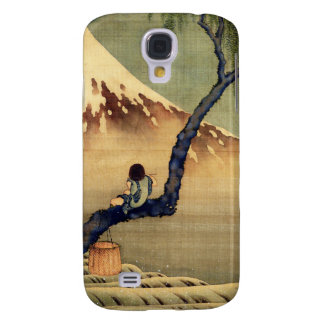 Muchacho de Hokusai que ve el vintage del japonés Funda Para Galaxy S4