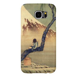Muchacho de Hokusai que ve el vintage del japonés Fundas Samsung Galaxy S6