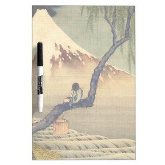 Muchacho de Hokusai que ve el vintage del japonés Pizarra