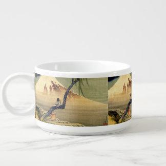 Muchacho de Hokusai que ve el vintage del japonés Tazón