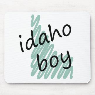 Muchacho de Idaho en el dibujo del mapa de Idaho d Alfombrilla De Raton