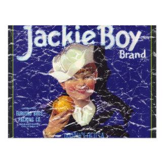 Muchacho de Jackie - apenado Tarjeta Postal