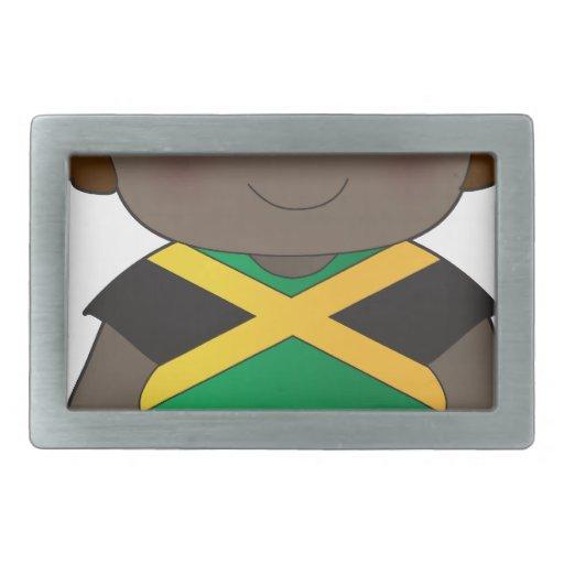 Muchacho de Jamaica de la amapola Hebillas Cinturón Rectangulares