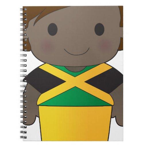 Muchacho de Jamaica de la amapola Libretas