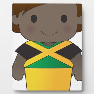Muchacho de Jamaica de la amapola Placas De Madera