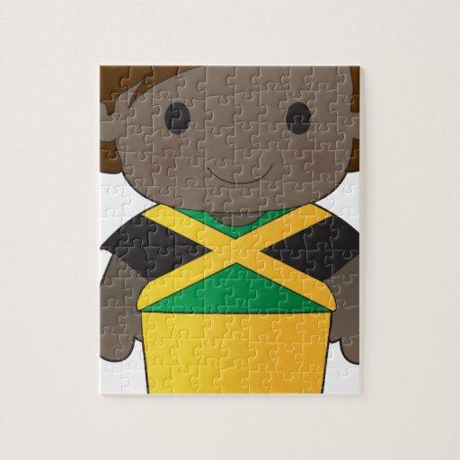 Muchacho de Jamaica de la amapola Puzzles Con Fotos