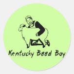 Muchacho de Kentucky Baad Etiqueta Redonda