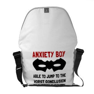 Muchacho de la ansiedad bolsas messenger