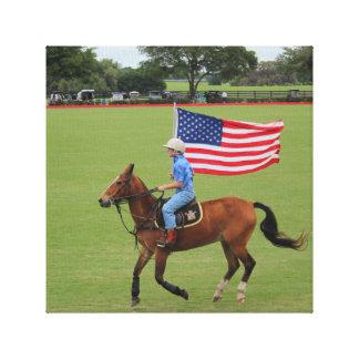 Muchacho de la bandera del polo impresiones en lona estiradas
