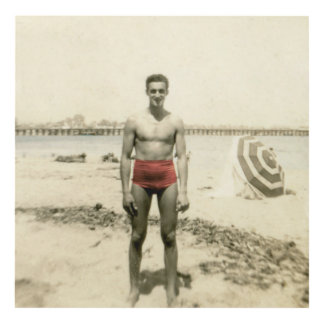 muchacho de la belleza de la playa cuadro